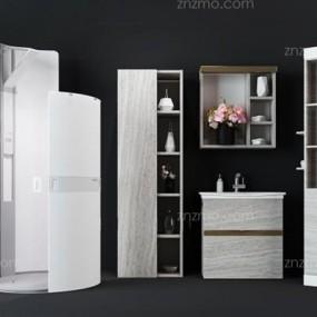 淋浴房组合3D模型【ID:227880569】