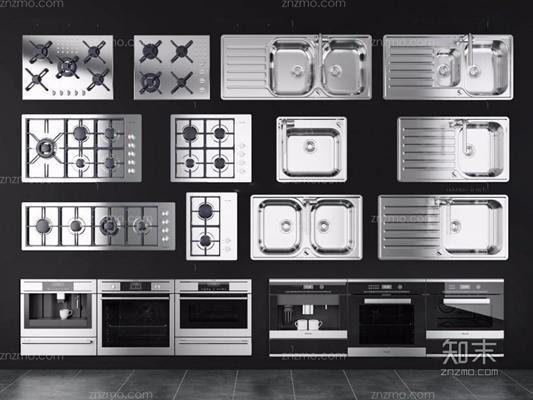 廚房器具組合3D模型【ID:227880366】