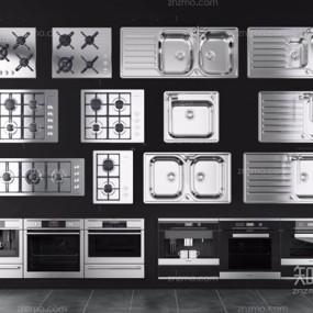 厨房器具组合3D模型【ID:227880366】