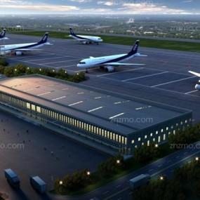 飞机场3D模型【ID:427951826】
