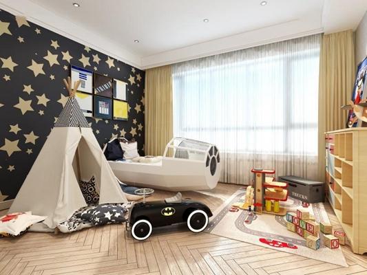 現代兒童房3D模型【ID:427953552】
