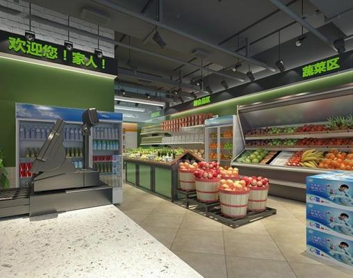 超市3D模型【ID:528004306】