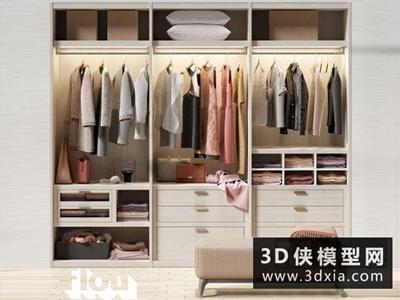衣服模型組合國外3D模型【ID:929391632】
