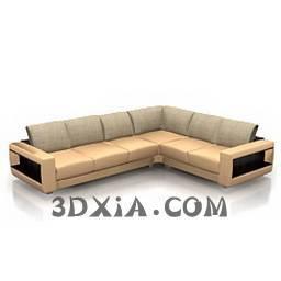 最新的多人沙發A-250-3DS格式3D模型【ID:22533】