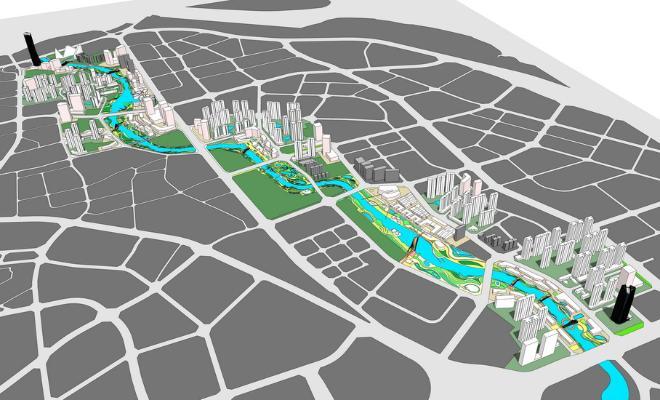 城市规划SU模型【ID:348078196】