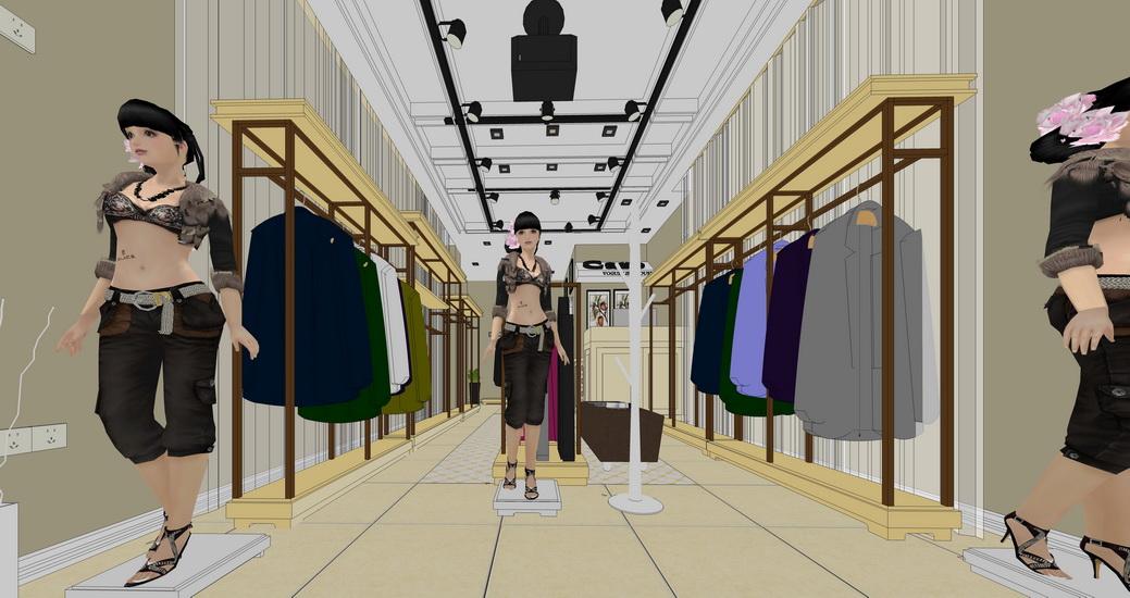服裝店SU模型【ID:236352350】