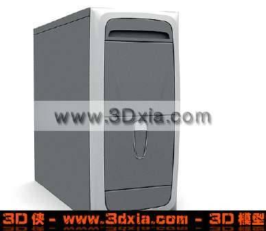 普通的电脑机箱3D模型【ID:2279】