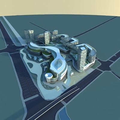 现代建筑3D模型【ID:324883581】
