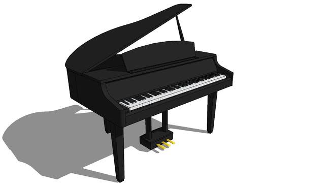 数字大钢琴SU模型【ID:739534963】