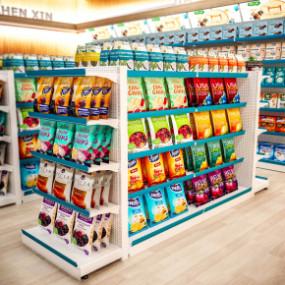 现代超市货架3D模型【ID:927816261】