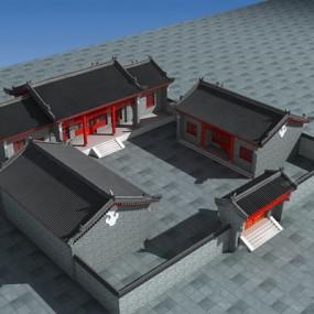 中式四合院3D模型【ID:226233423】