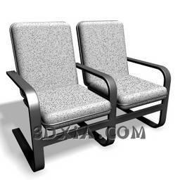 公共椅A-82-3DS格式3D模型【ID:23637】
