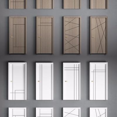 現代簡約實木單開門組合3D模型【ID:727810571】