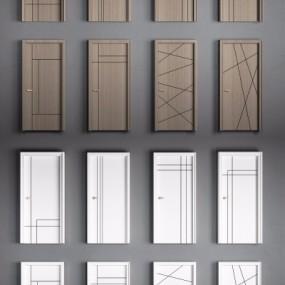 现代简约实木单开门组合3D模型【ID:727810571】