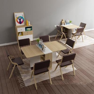 餐桌椅组合3D模型【ID:120014830】