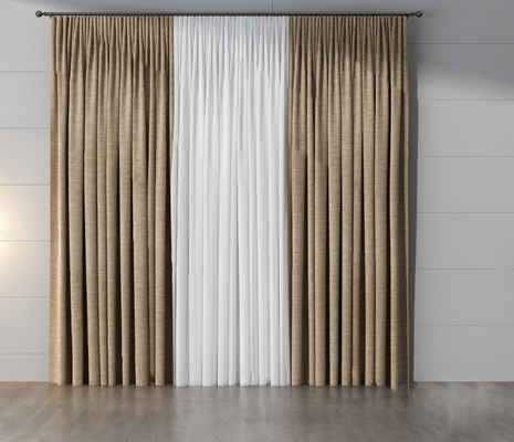 现代窗帘3D模型【ID:720610692】
