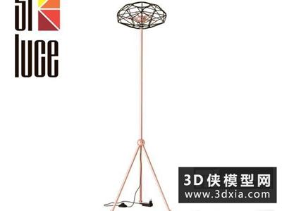 现代落地灯国外3D模型【ID:929374048】