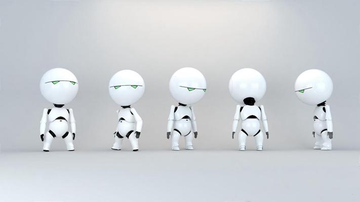 現代Q版機器人3D模型【ID:928183148】