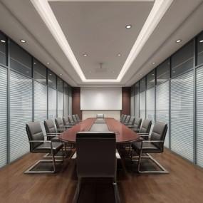 现代会议室3D模型【ID:728308857】