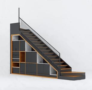 现代楼梯3D模型【ID:720804944】