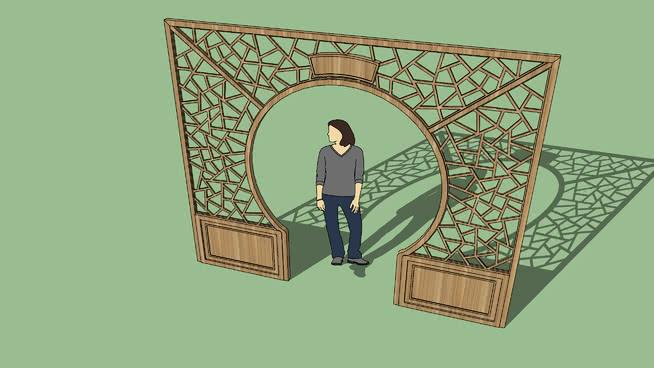 一種新型的家具,誕生于屏風。SU模型【ID:939540619】
