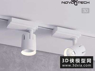 現代軌道射燈國外3D模型【ID:929353114】