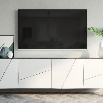 现代电视柜摆件组合3D模型【ID:927834032】