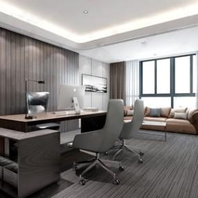 现代办公室3D模型【ID:941980032】