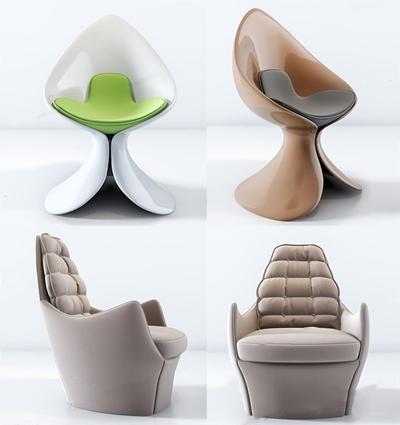北欧单人沙发组合3D模型【ID:928185623】