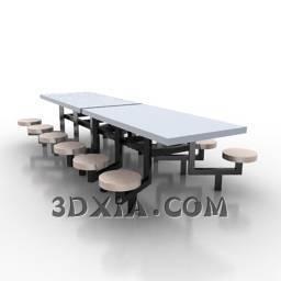 餐桌椅A3D模型【ID:24832】