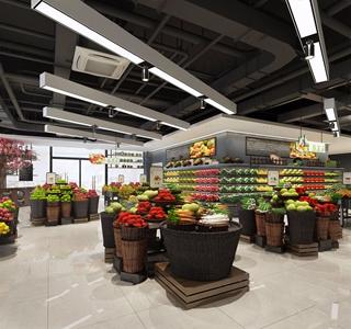 現代超市3D模型【ID:120828719】