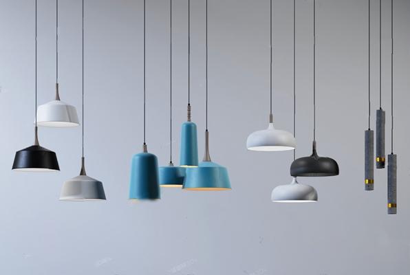 现代吊灯3D模型【ID:226224829】