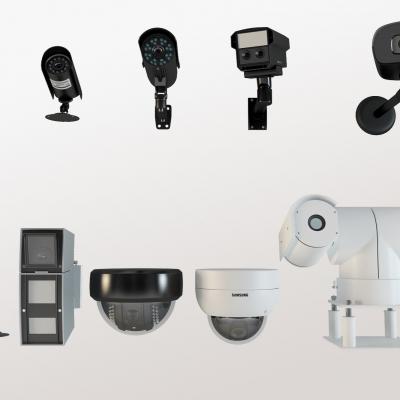 現代攝像頭監控器組合3D模型【ID:227782760】