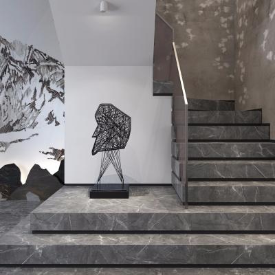 现代大理石楼梯3D模型【ID:828474514】