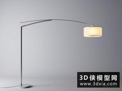 现代落地灯国外3D模型【ID:929715035】