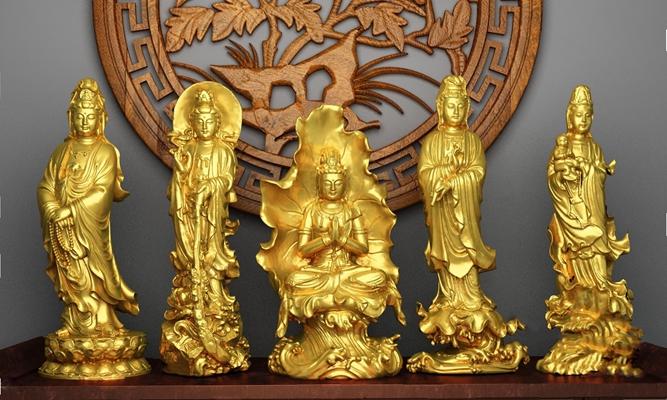 中式雕塑3D模型【ID:320608805】