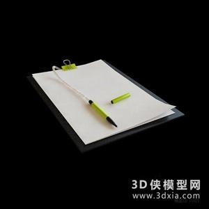 文具国外3D模型【ID:929847064】