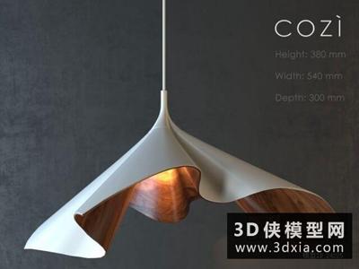 现代吊灯国外3D模型【ID:829351727】