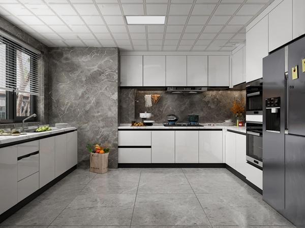 现代厨房3D模型【ID:547290338】