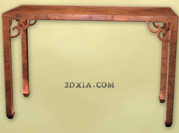 d古典中式桌子sdown-19-3DS格式3D模型【ID:25371】