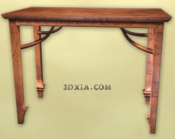 d古典中式桌子sdown-22-3DS格式3D模型【ID:25375】
