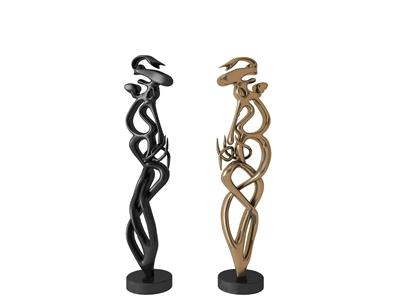 现代雕塑摆件3D模型【ID:341547124】