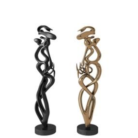 现代雕塑摆件3D模型【ID:336238152】