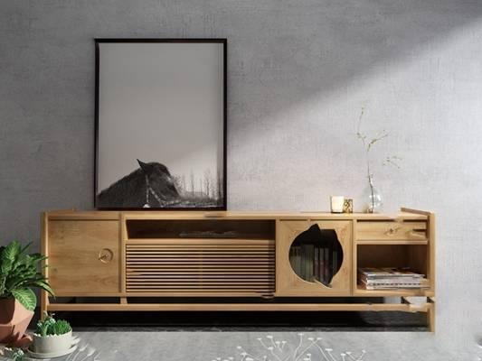 电视柜3D模型【ID:920604006】