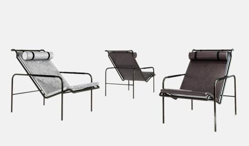 现代皮革休闲椅3D模型【ID:732387349】