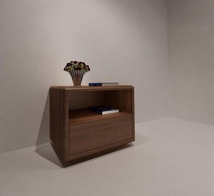 現代床頭柜YJ3D模型【ID:928195666】