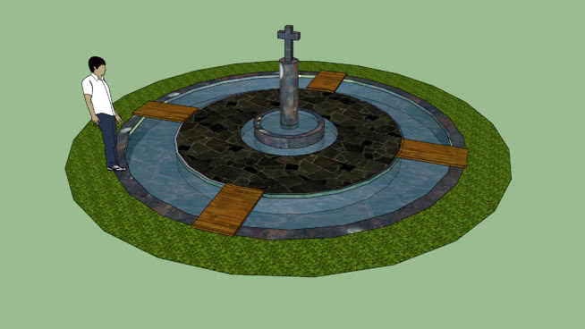噴泉SU模型【ID:439548008】