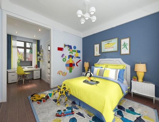北欧儿童房3D模型【ID:124884215】
