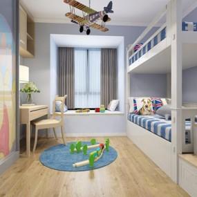 北欧儿童房3D模型【ID:127868216】
