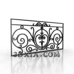 铁艺栏杆c-3DS格式3D模型【ID:26263】